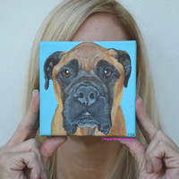 Pet Portrait, Dog Painting, Custom Pet Portrait, Pet Paintings