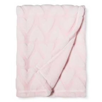 Plush Embossed Baby Blanket Hearts - Cloud Island™ - Pink