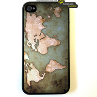 Iphone 4 Case Vintage World Map iPhone 4 Case