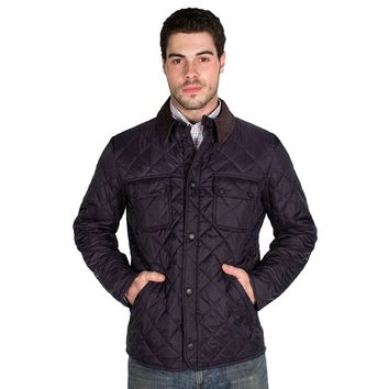 Tinford Quilted Jacket in Navy by Barbour