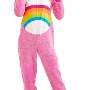 Briefly Stated Care Bear Cheer Pink Women's Union Suit Pajama Costume