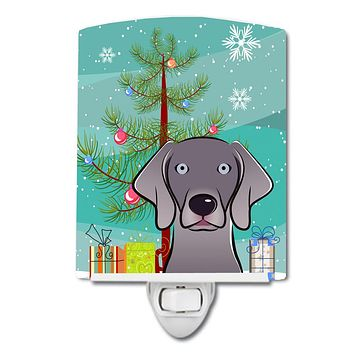 Christmas Tree and Weimaraner Ceramic Night Light BB1603CNL