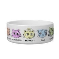 """Feline Hungry"" Pet Bowl from Zazzle.com"