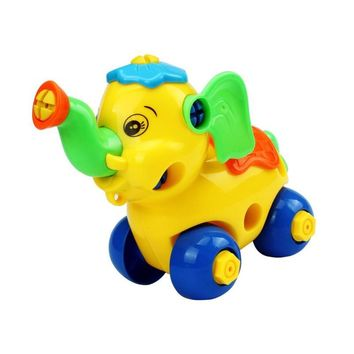 Disassembly Animal Elephant toy Car Design Educational toys for children kids toy