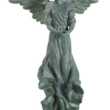 "29.7"" Grey Outdoor Patio Garden Angel Christmas Statue"