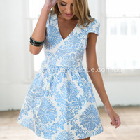 Gold Foil Dress(Blue)