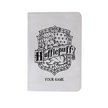 Hufflepuff Leather Business Passport Holder Protector Cover_SUPERTRAMPshop