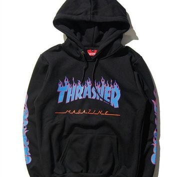 Hot Thrasher Flame Unisex Sweater Hoodies Pullover