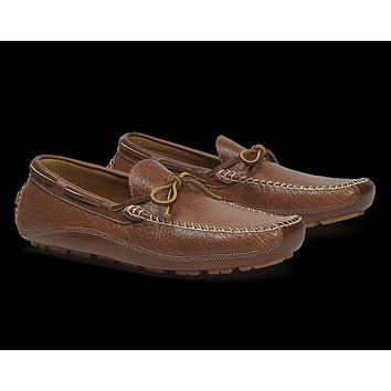 Men's Drake Bison Loafer in Saddle Tan by Trask