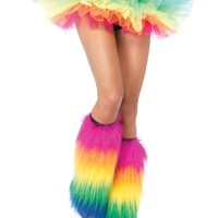 Furry Rainbow Boot Covers