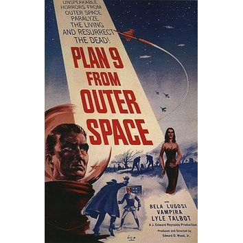 Plan 9 from Outer Space Poster//Plan 9 from Outer Space Movie Poster//Movie Poster//Poster Reprint//Home Decor//Wall Decor