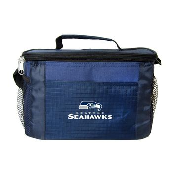 Seattle Seahawks Insulated 6 Pack Cooler/Lunch Bag