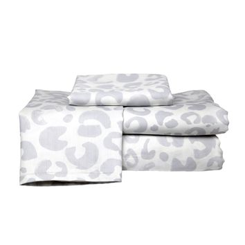 Snow Leopard Sheet Set