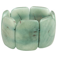 Buy Andean Collection Polished Tagua Bracelet, Emerald online at JohnLewis.com