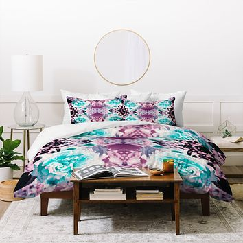 Caleb Troy Black Light Garden Duvet Cover