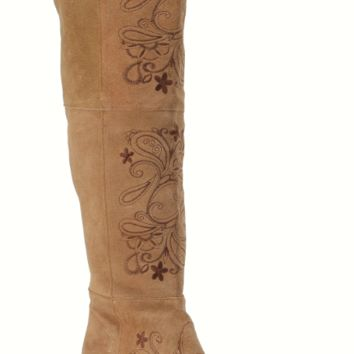 Miss Macie Uptown Girl Tall Boot~ Brown Suede