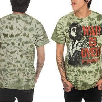 Licensed cool NEW The Beatles John Lennon War is Over! If you Want it Green Tie Dye Tee Shirt