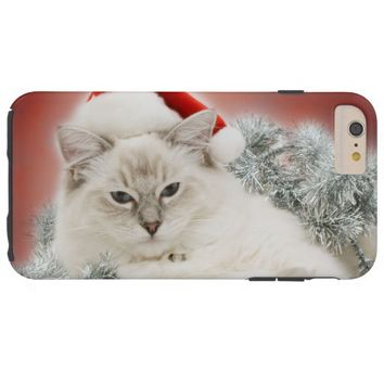 Christmas Cat Tough iPhone 6 Plus Case