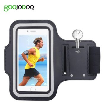 Waterproof Gym Sports Running Armband Arm Band Phone Pouch Case Cover Holder for IPhone 4 4S 5 5S 5C SE 6 6s Plus iPod Touch 5