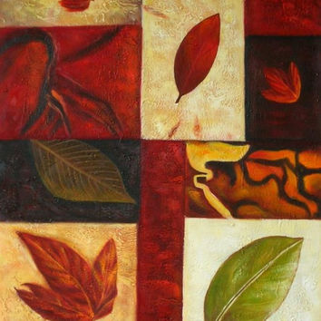 Autumnal Abstract Art Oil Painting