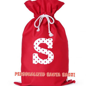 Personalized Santa sack, Santa sack, Christmas sacks, Christmas stocking, Santa Claus, Santa Claus presents , Santa Claus presents bag,