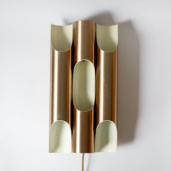 Vintage Dutch Copper Wall Sconce - Raak 1970s