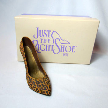 Just The Right Shoe Raine Leopard Stiletto Collectible Original box 1998
