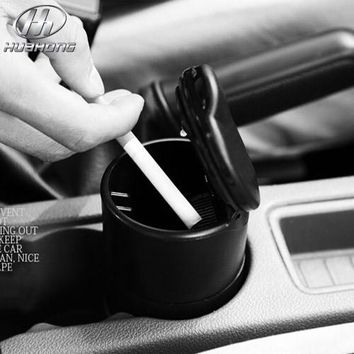 Car ashtray automobile ashtrays made with High flame retardant PBT material black color interior styling decoration products