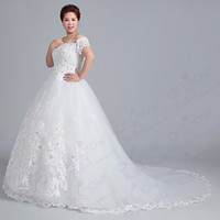 Stunning wedding dress plus size 2015 new fashion bride dress = 1929641668