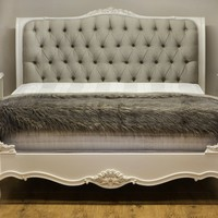Beaulieu Upholstered French Bed | French Bedroom Furniture | Shabby Chic Furniture | French Beds