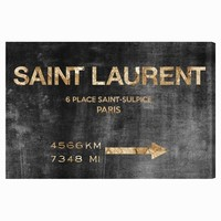 Saint Laurent Road Sign Canvas by Oliver Gal