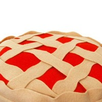 Better Than Grandma's Cherry Pie Pillow by diffractionfiber