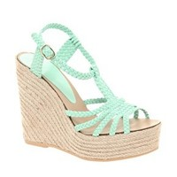 ASOS HAMMOCK Leather Espadrille Wedges at asos.com