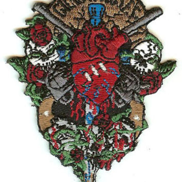 Guns n' Roses Iron-On Patch Dagger Heart Logo