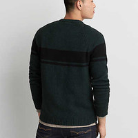 AEO Stripe Crew Sweater, Olive