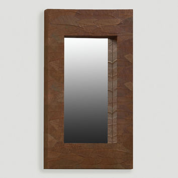 Mahogany Leaf Mirror, Oversized - World Market