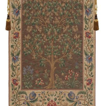 Tree of Life Brown European Tapestry