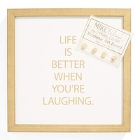 Petal Lane 'Life Is Better When You're Laughing' Magnet Board