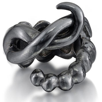 Twisted Silver Serpent Ring