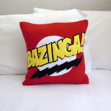 Bazinga Fleece Pillow, Big Bang Theory
