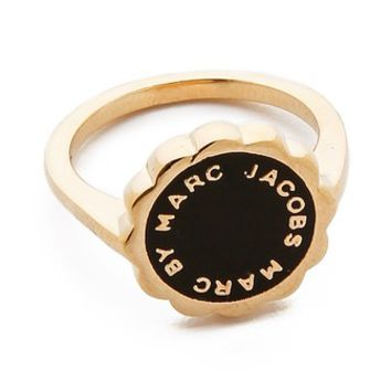 Marc by Marc Jacobs Enamel Scalloped Disc Ring