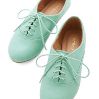 ModCloth Pastel Everyday Adorable Flat in Mint