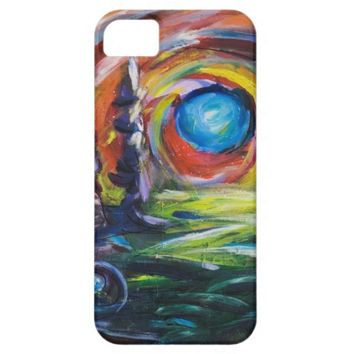 Blue Moon original painting iPhone SE/5/5s Case