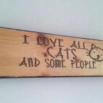 Cat sign, home decor, wooden cat sign, reclaimed wood signs, cat signs ,home decoration, cat lover gift, FREE SHIPPING