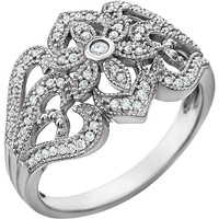 14kt White Gold 1/4 CTW Diamond Vintage-Style Ring