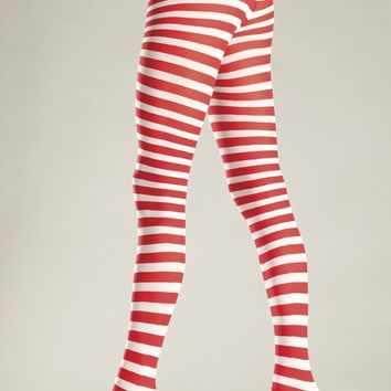 BW517WR Pantyhose Candy Cane - Be Wicked
