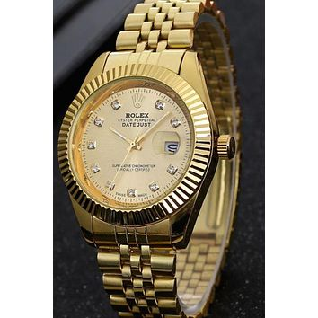 Rolex Men Fashion Quartz Watches Wrist Watch