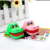 Random Color New Toy Crocodile Dentist Bite With Keychain Mouth HB88