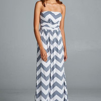 Ocean Breeze Maxi Dress - Gray