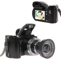 DC-510T 12.0MP 2.4-inch TFT LCD Camera/Camcorder with 8X Digital zoom And Digital Voice Recorder - Black